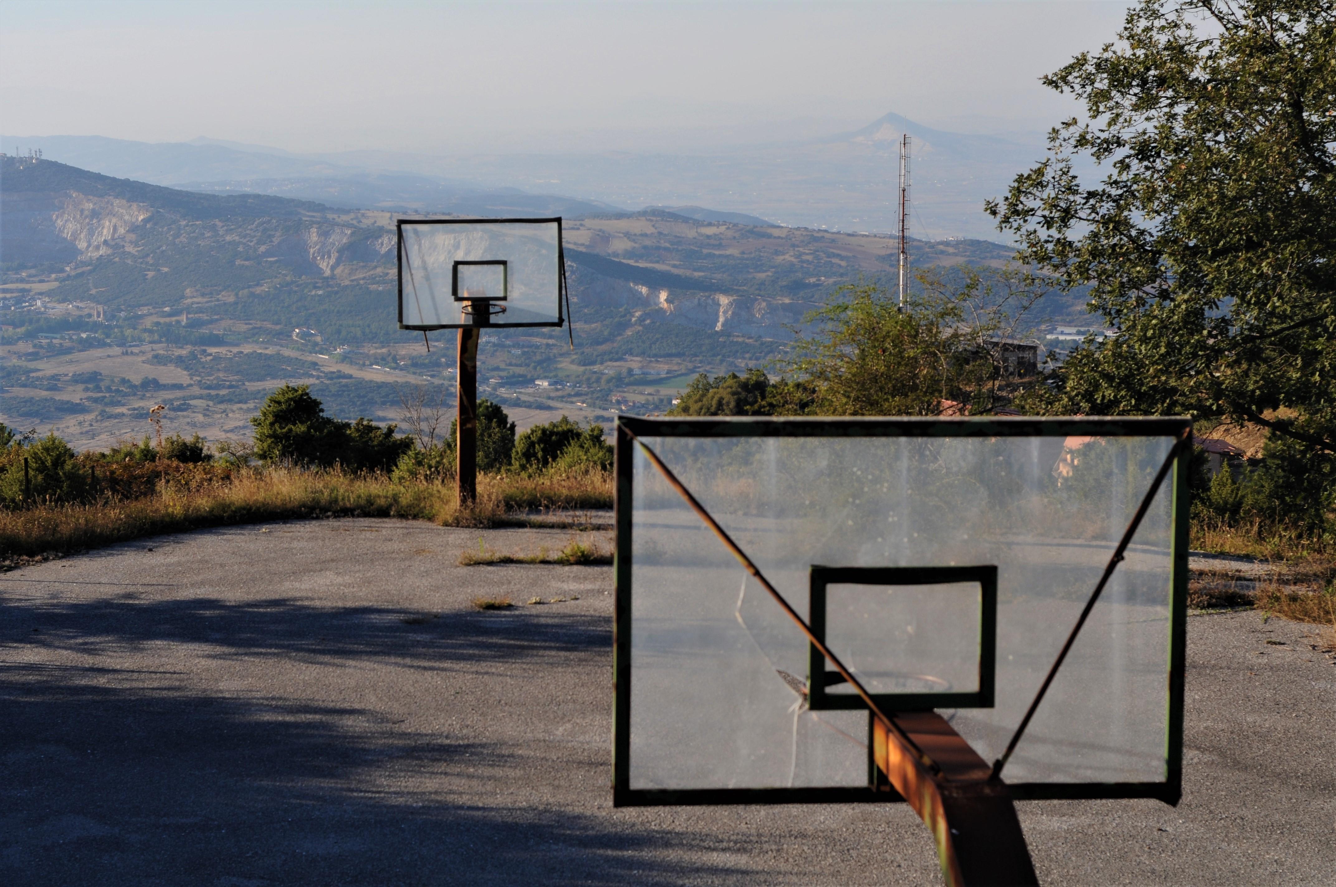 Abandoned baseball pitch on Mount Chortiatis