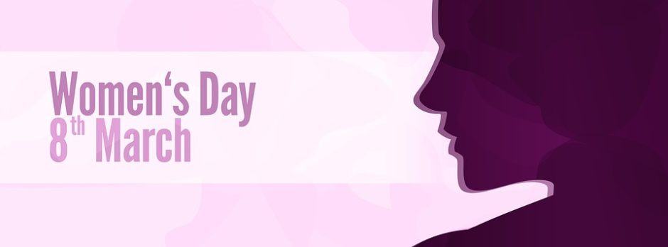 Graphic for International Women's Day on the 8th of March