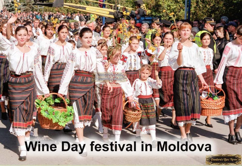 People in Wine Day festival in Moldova