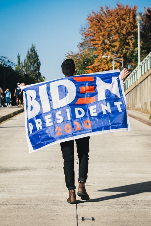 Supporter of Joe Biden in the American elections